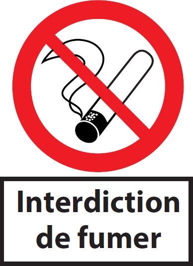 panneau picto interdiction de fumer pvc a4. Black Bedroom Furniture Sets. Home Design Ideas