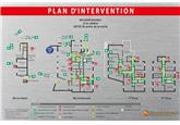 Plan d'intervention sur Dibond - Format A0