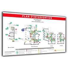 Plan d'intervention sur Dibond blanc - Format A0